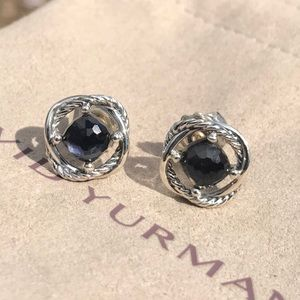 David Yurman Black Onyx Infinity Earrings